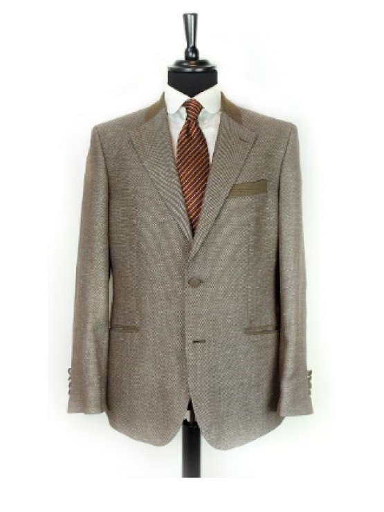 Brown jacket with green decoration