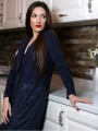 Womens fancy coat in dark blue