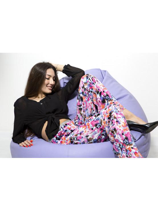 Colorful silk pants