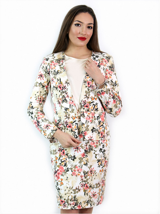 Womens jacket with flowers