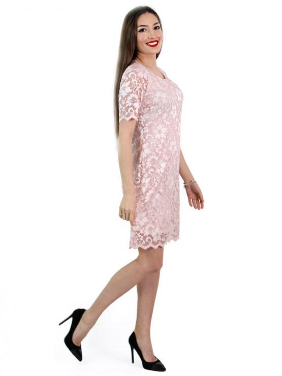 Festliches Kleid in Nackte Rosa Farbe