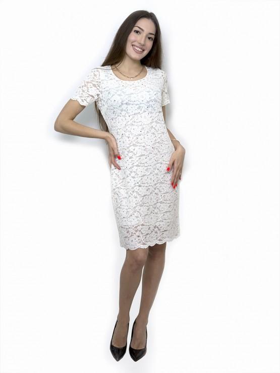 Cocktailkleid / Festliches Kleid in Weiße Farbe