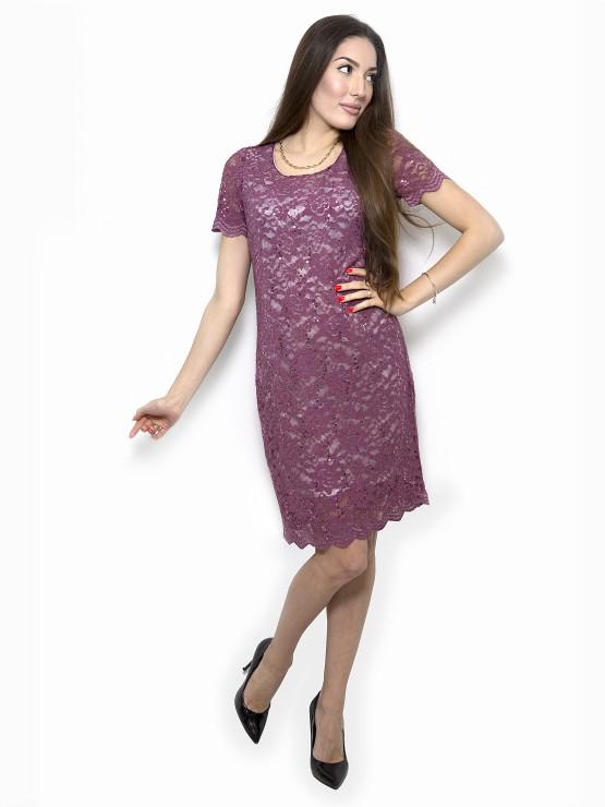 Festliches Kleid in Brombeerfarbe